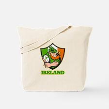 Ireland Leprechaun Rugby Tote Bag