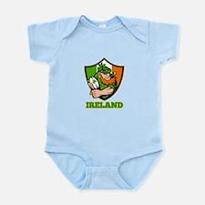 Ireland Leprechaun Rugby Infant Bodysuit