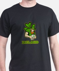 Ireland Leprechaun Rugby T-Shirt