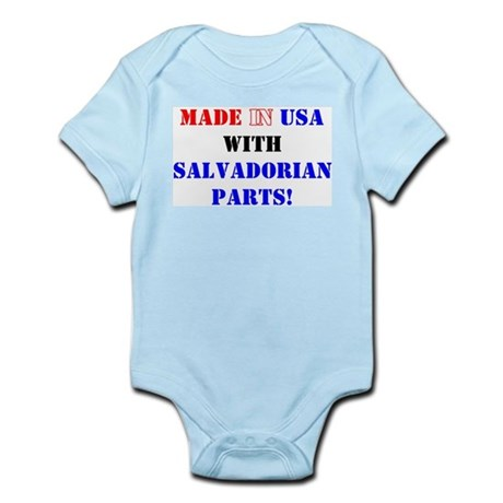Made in USA with Salvadorian Parts! Infant Creeper