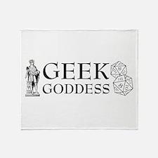 Geek Goddess Throw Blanket