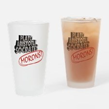 Morons Drinking Glass