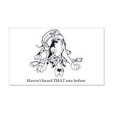 N HarlHaven'tHeard Great Dane Sticker (Rectangular