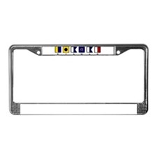 Nautical Kiawah License Plate Frame