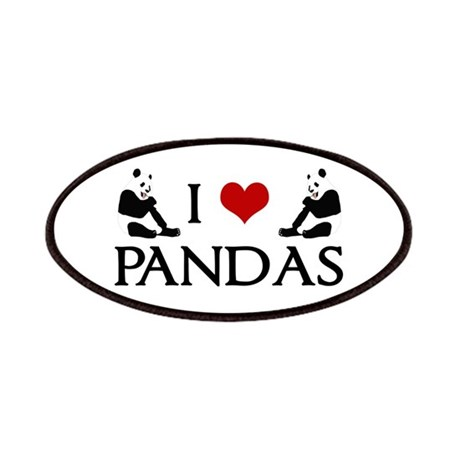 I Heart Pandas Patches