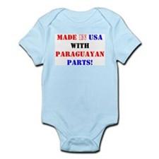 Made in USA with Paraguayan Parts! Infant Creeper