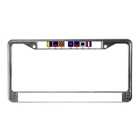 Nautical Key West License Plate Frame
