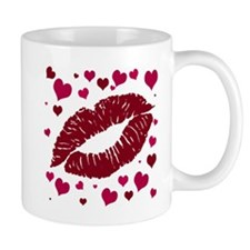 hearts and a kiss Mug