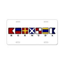 Nautical Bermuda Aluminum License Plate