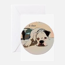 Le Boxer Greeting Card