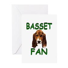 Basset Fan Greeting Cards (Pk of 20)