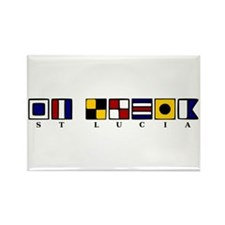 St. Lucia Rectangle Magnet