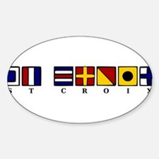 Nautical St. Croix Sticker (Oval)