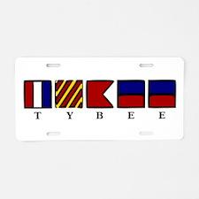 Nautical Tybee Island Aluminum License Plate