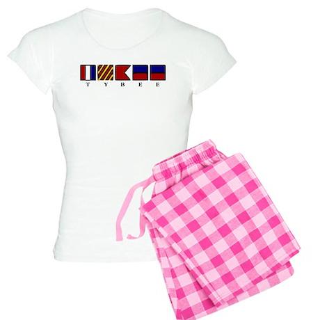 Nautical Tybee Island Women's Light Pajamas