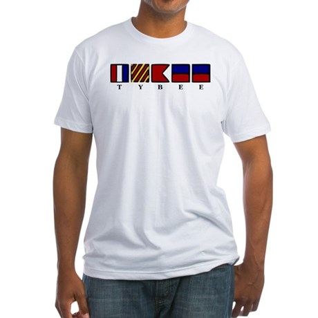 Nautical Tybee Island Fitted T-Shirt