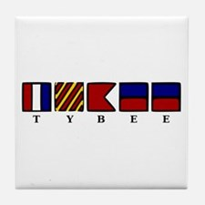 Nautical Tybee Island Tile Coaster