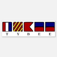 Nautical Tybee Island Bumper Bumper Sticker
