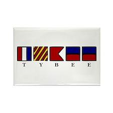 Nautical Tybee Island Rectangle Magnet
