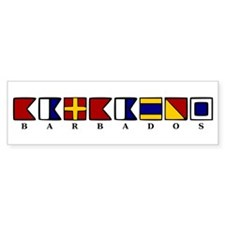 Nautical Barbados Bumper Sticker