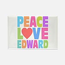 Peace Heart Edward Rectangle Magnet