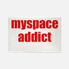 MYSPACE ADDICT, Rectangle Magnet (10 pack)