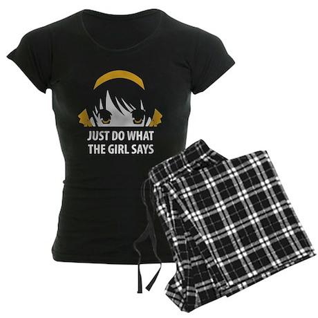 Suzumiya Haruhi Women's Dark Pajamas