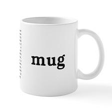 Caution label mug