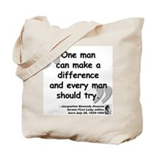 Jackie Difference Quote Tote Bag