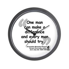 Jackie Difference Quote Wall Clock