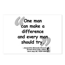 Jackie Difference Quote Postcards (Package of 8)