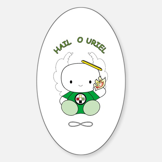 Cute Uriel Sticker (Oval)