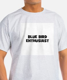 Blue Bird Enthusiast Ash Grey T-Shirt