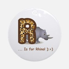"""""""R"""" is for Rhino ~ Ornament (Round)"""