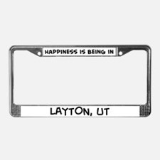 Happiness is Layton License Plate Frame