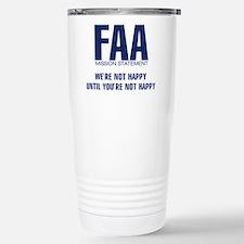 FAA - Mission Statement Stainless Steel Travel Mug
