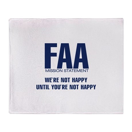 FAA - Mission Statement Throw Blanket