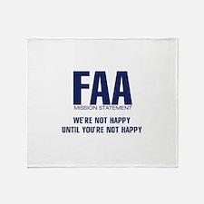 FAA - Mission Statement Throw Blanket