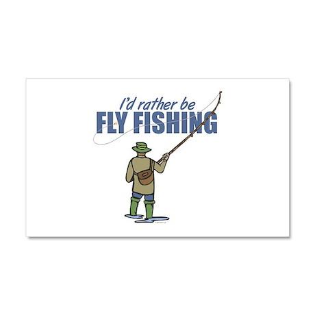 Fly Fishing Car Magnet 20 x 12