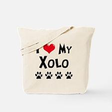 I Love My Xolo Tote Bag