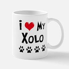 I Love My Xolo Mug