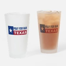 Texas - Pray for Rain Drinking Glass
