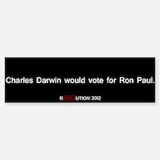 Charles Darwin for Ron Paul Sticker (Bumper)