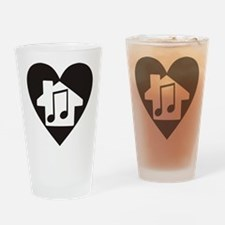 Unique House music Drinking Glass