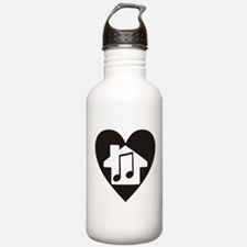 Funny House music Water Bottle