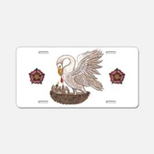 Pelican Rose Aluminum License Plate