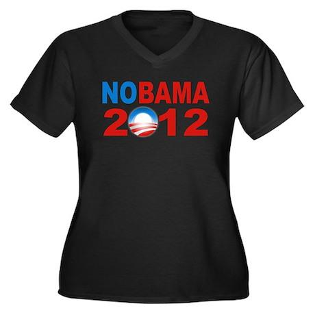 Anti Obama 2012 Women's Plus Size V-Neck Dark T-Sh