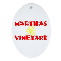 MARTHAS VINEYARD Ornament (Oval)