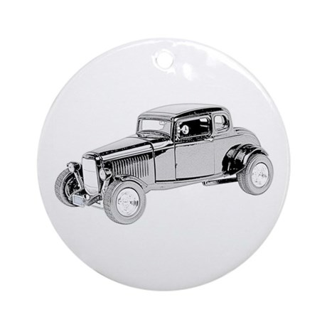 Ford Coupe 1932 -colored Ornament (Round)