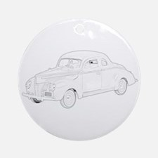 Ford Deluxe 1940 Ornament (Round)